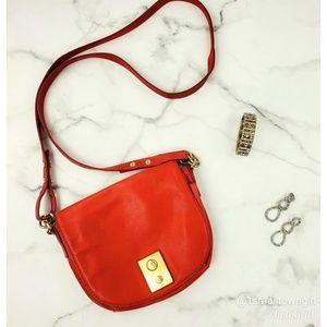 J. Crew mini crossbody bag genuine leather red